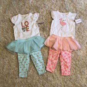 Two new with tags Carers outfits size 6 months